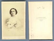 Desmaisons, Paris, Adelina Patti Vintage carte de visite, CDV  Tirage albuminé