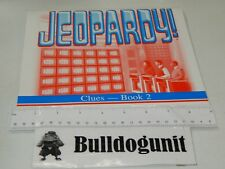 1999 Jeopardy Board Game Replacement Clue Book # 2 Puzzle Games 26-48 Only