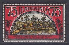 AUC1083) German New Guinea 75pfg NOTGELD uncirculated. RARE!