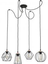 GALAXY Pendelleuchte schwarz Metall 4-flammig E27 60W