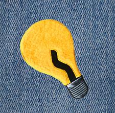XXL Cute Chenille Light Bulb Shirt Patch Badge 24cm Applique