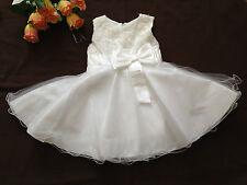Baby Girl Christening Baptism Wedding Party Christmas 3D Flower Dress 18-24 Mos