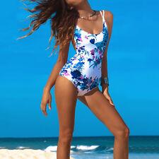 Women Monokini One Piece Padded Bikini Swimwear Bathing Push Up Suit Swimsuit AU
