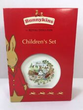 Bunnykins By Royal Doulton 3 piece Children's Set New in Box Plate, Bowl & Mug