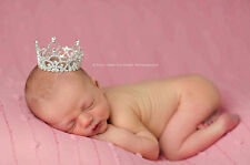 1 Top Purple Diamante Mini Rhinestone Crown Tiara for Newborn Baby Birthday Gift