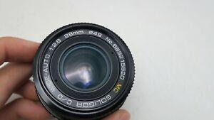 Soligor MC C/D Auto F2.8 28mm Minolta MD Mount Lens For SLR/Mirrorless Cameras