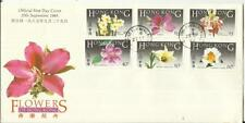 Hong Kong FLOWERS-SG#497-502(complete set) FIRST DAY- 25/SP/85