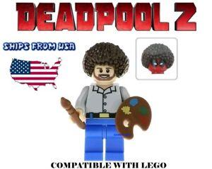 Deadpool 2 Movie Promo Bob Artist Mini Figure Toy Building Blocks USA minifig