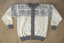 DALE OF NORWAY White Warm Winter WOOL SWEATER Cardigan Button-Up Size Women XXL