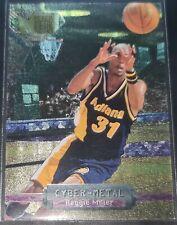 Reggie Miller 1996-97 Fleer Metal CYBER-METAL Insert Card (no.10)