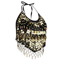 Sequin Halter Padded Top Belly Dance Festival Tribal Gypsy Party Costumes