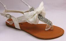 Zapatos de Novia Tiras Sandalias Chanclas de Dedo Lazo Lentejuelas LL6335