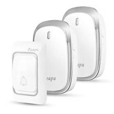 Wireless Doorbell, 2 Plug in Receivers and 1 Transmitter Battery installed, Led
