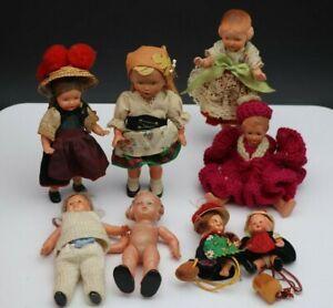 8x Kleine Puppen,schildkröt & andere Marke (01-030421)