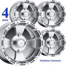 FOUR 14x8 14x7 4/136 Aluminum ATV RIMs WHEELs for Honda Pioneer 1000 12x1.50 IRS