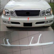 3PCS For Lexus LX470 1998-2002 Front Bumper Headlight Trim Under Mesh Primer