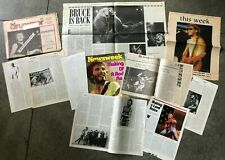 Bruce Springsteen press clippings vintage 1970s photos and articles