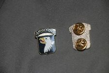 GENUINE US ARMY 101ST AIRBORNE DI ENAMEL CREST PIN BADGE