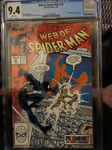 Web of Spider-man #36 CGC 9.4 NM Tombstone 1st Appearance 1988