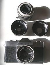 Vintage 528 TL mamiya sekor 35 mm Camera w 3 Vivitar Lens Never Used Org Owner