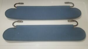 AMC JEEP CJ5 CJ7 CJ8 SCRAMBLER FACTORY WINSHIELD SUN VISORS SHADES BLUE ORIGINAL