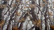 Camo Fabric Realtree Hardwoods Flocked Velvet Sueded Upholstery 54