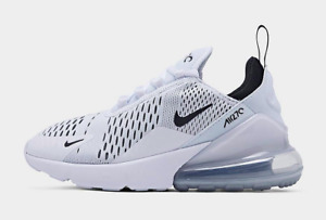 White/White/Black Nike Air Max 270 Comfortable women Athletic Shoes