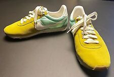 Nike Pre Montreal Racer Mint Green Gold Sneakers Vintage Women's Size 7 EUC