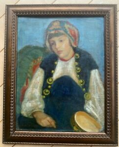Canadian artist Phyllis Armour Hertzberg oil on canvas board painting portrait