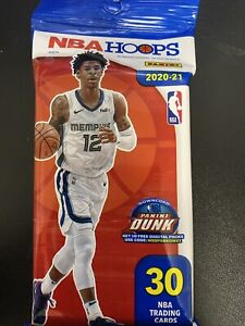 2020-21 Panini NBA Hoops Cello Fat Pack 30 Cards New Sealed