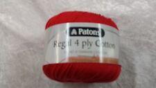 Patons Regal Cotton 4 Ply #3534 Scarlet 50g