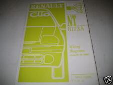 Workshop Manual Wiring Diagram Schaltpläne Renault Clio,  Stand 2000