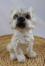 "Westie West Highland White Terrier Dog Figurine 6 1/2"" tall Polystone"