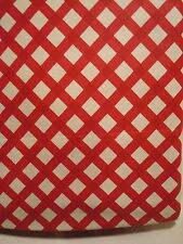"Vinyl Tablecloth Table Cloth Oblong Gingham Country Red & White NWT 52"" x 90"""