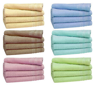 3 Pack economy guest towels hand flannels wash cloths 38 x 63 cm kitchen towel