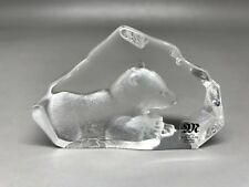 Small Mats Jonasson Paperweight - Crystal Bear Cub - Only 4.7 Cm Tall