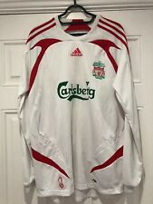 2007-08 Long Sleeved Liverpool Away Shirt - Medium