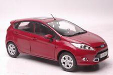 Ford Fiesta 2011 car model in scale 1:18 purple red