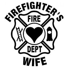 FIREFIGHTER'S WIFE Window Sticker Decal 5""