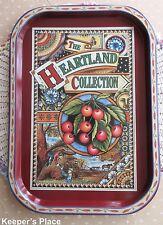 The Heartland Collection Tin Tray Metal Decorative Ornate Farmland Country