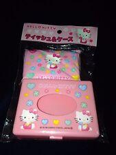 New VTG 1998 Sanrio Hello Kitty Pocket Tissue & Plastic Holder RARE
