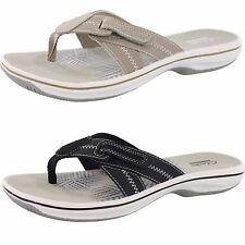 womens clarks flip flops