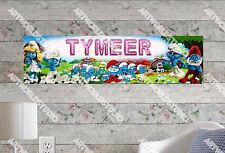 Personalized/Customized The Smurfs Name Poster Wall Art Decoration Banner