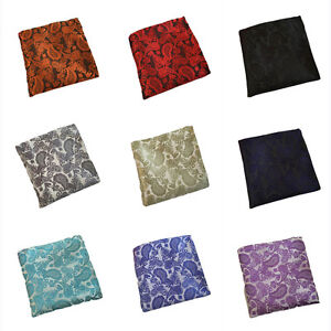 Mens Classic Flower Paisley Pocket Square Handkerchief Wedding Party Hanky HZ192