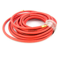 "50 Ft Red Air Hose 250 PSI 3/8"" I.D. 1/4"" MNPT"