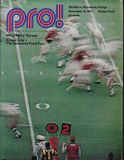 Chicago Bears vs Minnesota Vikings 1971 pro football program