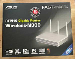 ASUS RT-N16 Wireless-N300 Gigabit Router / 300Mbps - Up To 300,000 Data Sessions