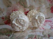 Shabby & Chic Cabbage Rose Curtain Drapery Tiebacks PAIR (Style #2)