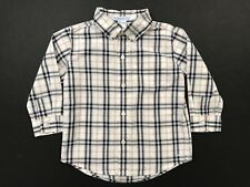 JANIE AND JACK Aviator Plaid Button Up Shirt Size 18-24 Months