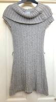 Wallis Knitted Tunic Dress Size 10 Mohair Mix